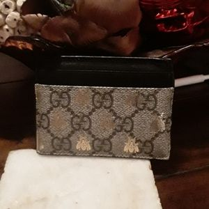 authentic Gucci mens credit card holder